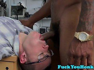 Spex straighty throated and barebacked by bbc