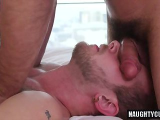 Big cock bear anal sex and massage