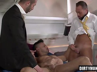 Muscle boy threesome and cumshot