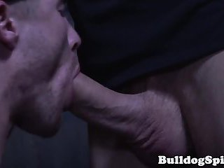 Facialized english gangster fucked by stud