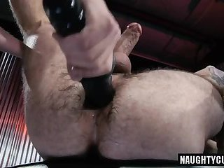 Hairy wolf fetish and cumshot
