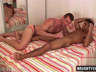 Latin jock anal sex and cumshot