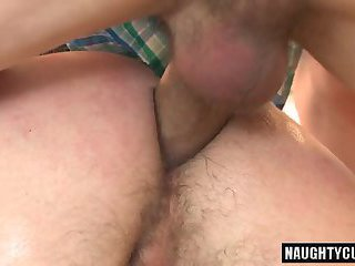 Big dick daddy anal sex with facial