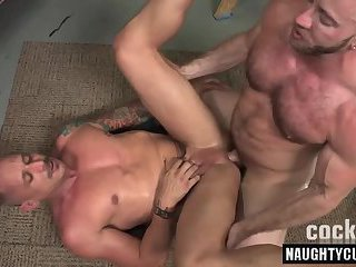 Hot daddy bareback and anal cumshot