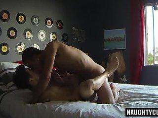 Brunette jock anal sex and cumshot