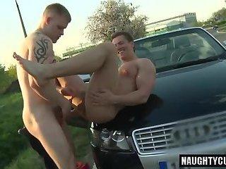 Hot daddy fetish with cumshot
