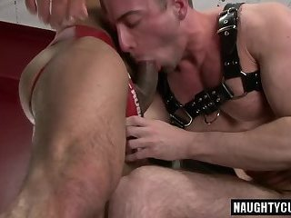 Hot gay anal rimming with facial