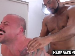 Hardcore and interracial sex session with Ray and Sean