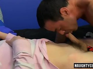 Hot daddy anal sex with cumshot