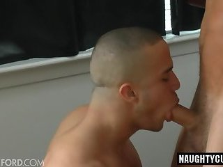 Tattoo jock anal sex with cumshot