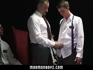 MormonBoyz- The Patriarch's device stretches a cute boy's hole