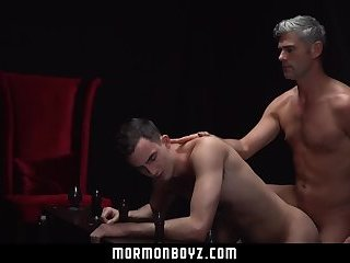 MormonBoyz- Horse hung priest stretches and then breeds boy's hole