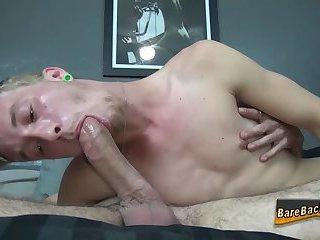Gay hunk rides bareback