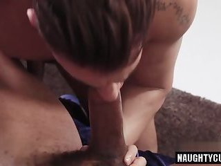 Big dick gay anal sex and eating cum