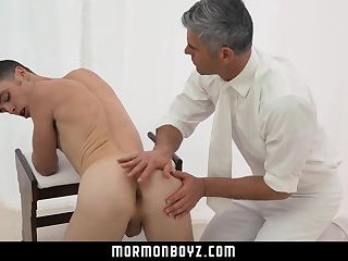 Mormonboyz - Cute missionary fucked by priest daddy in church