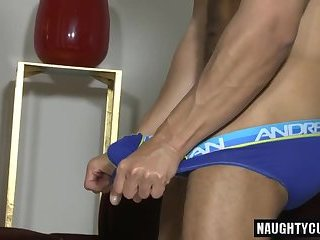 Latin gay oral sex and cumshot