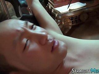 Straight asian spunked