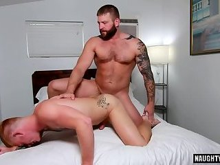 Brunette bear anal sex with facial
