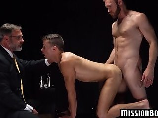 Mormon elder watches as a young mormon takes it in the ass