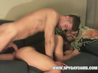 hung gay couple fuck-show